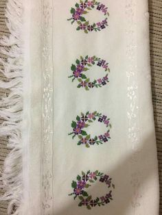 Beaded Cross Stitch, Cross Stitch Borders, Cross Stitch Designs, Cross Stitch Embroidery, Embroidery Patterns, Cross Stitch Patterns, Most Beautiful Wallpaper, Dish Towels, Hand Stitching