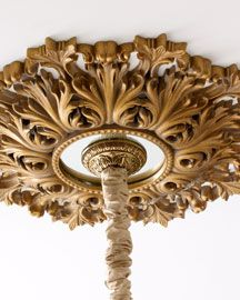 """Rococo"" Mirrored Ceiling Medallion"