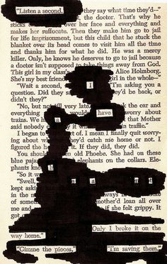 The blackout poetry: Listen a second. I have a heart. Only I broke it on the way home. Gimme the pieces, I'm saving them. Blackout Poetry, Pretty Words, Beautiful Words, Beautiful Poetry, Book Art, Le Vent Se Leve, Found Poetry, Poetry Art, Deep Poetry