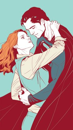 """You put the Smallville in Smallville, Smallville. (Superman and Lois Lane (Man of Steel) by naooh.)"
