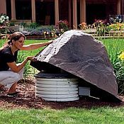 dekorra large rock enclosure faux rock 103 hide any unattractive utilities irrigation and septic systems in your yard recycled materials