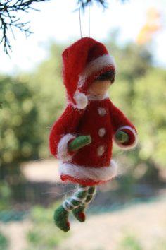 Needle Felted Elf Christmas