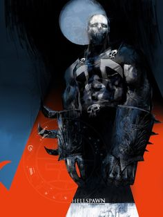 Spawn, Batman, Hellboy and more awesome art by Uwe de Witt Horror Comics, Marvel Dc Comics, Anime Comics, Comic Book Characters, Comic Character, Comic Books Art, Spawn, Requiem For A Dream, Spiderman