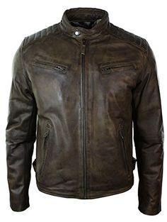 Aviatrix Mens Slim Fit Retro Style Zipped Biker Jacket Real Washed Leather Brown Urban brown s Aviatrix http://www.amazon.com/dp/B00RK9F6VM/ref=cm_sw_r_pi_dp_Sy7Gwb16W9PY5