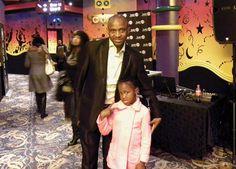 Arthur Mafokate with daughter