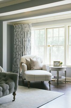 Grey/white print drapes for bedroom - Monday Inspiration | Kate Marker