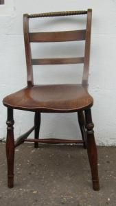 A testament to the outstanding skill of the early 19c windsor chair makers of the  Thames Valley these chairs are as sound as the day they were made 200 years ago.A true set of six single side chairs of excellent colour and patination.