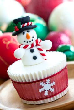 Snowman Cupcake Cake Toppers