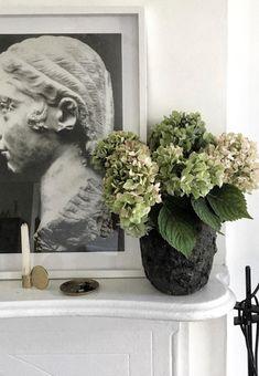Green Hydrangea, Autumn, Sculpture, Table, Painting, Art, Art Background, Fall Season, Painting Art