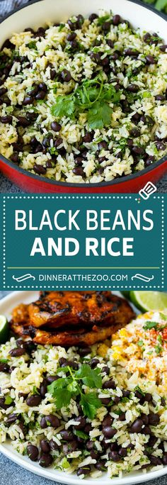 Black Beans and Rice Recipe Cuban Black Beans Beans and Rice beans rice blackbeans sidedish glutenfree dinner dinneratthezoo Cuban Rice And Beans, Cuban Black Beans, Black Beans And Rice, Recipe For Black Beans, Black Bean Pasta, White Rice Recipes, Rice Recipes For Dinner, Side Dish Recipes, Mexican Food Recipes