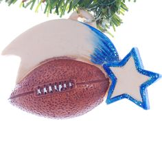 Football Christmas ornament - personalized football ornament perfect gift for your favorite player or fan (47) by Christmaskeeper on Etsy