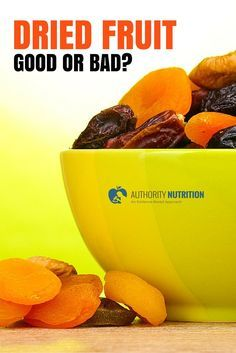This is a detailed article about dried fruit and its health effects. Dried fruit is very nutritious, but also contains a lot of sugar and calories. Learn more here: https://authoritynutrition.com/dried-fruit-good-or-bad/
