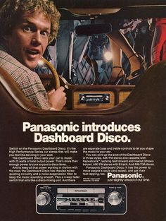 "Panasonic ""Dashboard Disco"" car cassette deck, 1978."