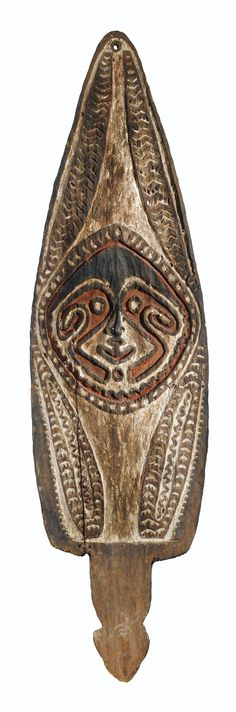 VOTIVE BOARD, PURARI PEOPLES, PAPUAN GULF, PAPUA NEW GUINEA