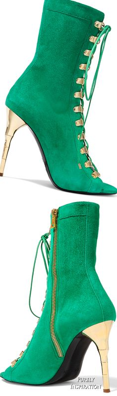 Balmain Lace-up suede boots | Purely Inspiration