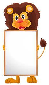 Resultado de imagen para imagenes de leones animados bordes paginas