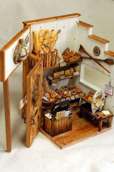 Wonderful 1/12 scale miniature pantry. #dollhouse