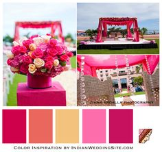 Indian Wedding Color Inspiration- Paradise in Pink on IndianWeddingSite.com