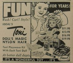 Toni Vintage Doll 1950s Advertisement
