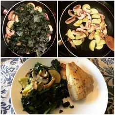 Who got Kale Mushrooms & Yellow zucchini in their bin this week?? Sauté it all in coconut oil toss it with a little ground mustard seed & hot sauce and plate it with a baked Sole  oh and pair it with Talon White from Coopers Hawk Vineyards!  #teamleeandmarias #supportlocal #supportlocalfarmers #fieldtodoorstep #eatinghealthymadeeasy