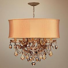 Harvest Gold Crystal Chandelier <3<3