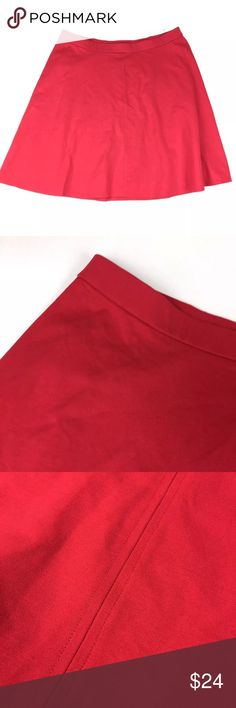 "Lane Bryant Short A Line Red Flare Skirt Size: 26/28 Condition: New without tags Measurements:  24-28"" across waist laid flat /  30"" long  No trades  V27&V28 Lane Bryant Skirts A-Line or Full"