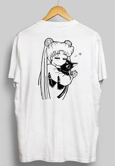 Sailor Moon Shirt Sailor Moon & Luna Anime Shirt by Animute