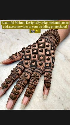 Floral Henna Designs, Henna Tattoo Designs Simple, Finger Henna Designs, Latest Bridal Mehndi Designs, Full Hand Mehndi Designs, Stylish Mehndi Designs, Henna Art Designs, Mehndi Designs For Beginners, Mehndi Designs For Girls