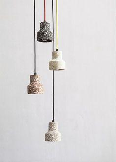 Lampe suspension / contemporaine / en terrazzo / à LED TU Bentu