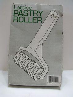 Lattice Pastry Roller   Plastic  Original Box #Unknown Vintage Kitchenware, Plastic, Dining, The Originals, Box, Food, Snare Drum