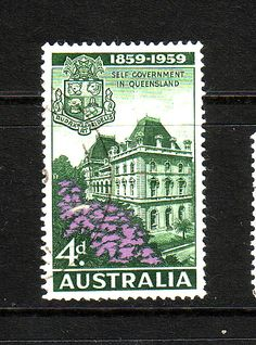 Australia 1959 SG 332 Self-Government in Queensland Fine Used       SG 332 Scott 333    Condition Fine Used       Only one post charge applied on
