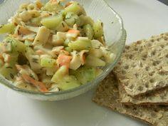 Surimi, yogurt & Cucumber salad.