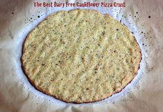 The BEST Dairy Free Cauliflower Pizza Crust  #TheLuckyPennyBlog