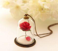 Colar A Rosa - Para quem ama A Bela e a Fera