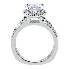 14k White Gold Diamond Halo Engagement Ring | Gabriel & Co NY | ER6571W44JJ