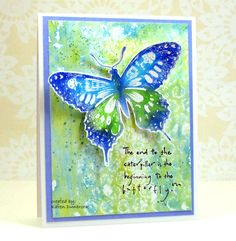 Snippets: New Life Gelli plate/stencil background, water spritzed stamp (PB)