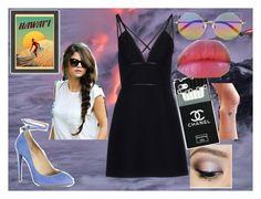 """hawaii"" by sweet-liv-24 on Polyvore featuring moda, Aquazzura, Linda Farrow, Prada, Urban Decay, Revlon e Americanflat"
