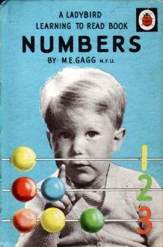 NUMBERS Vintage Ladybird Book Series 563 Matt