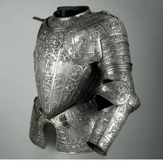 Parts of an armour, Manner of Lucio Marliani, called Piccinino (1538 - 1607), Milan, Italy, c. 1580, Iron, embossed, unfinished, Weight: 8.56 kg, total weight