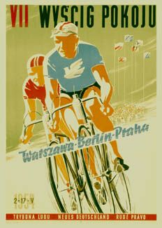 VII WYSCIG POKOJU Vintage 1954 Peace Race Poster Reprint ~Available at www.sportsposterwarehouse.com
