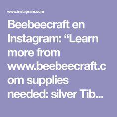 "Beebeecraft en Instagram: ""Learn more from www.beebeecraft.com supplies needed: silver Tibetan flower pendant 0.8mm plum nylon thread 0.8mm purple nylon thread 3mm…"""