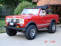 A rugged International Scout with Extend-A-Fenders. #FenderFlares #4x4