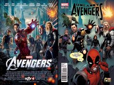 "Uncanny Avengers #25 Incentive Khoi Pham ""Deadpool 75th Anniversary Photobomb"" Variant"