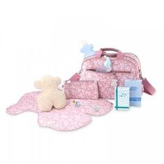 a9e4b07ef Pink color TOUS Kaos New Colores collection Catri model baby bag. Includes  bear shape daper changer cover, toiletry bag and velcro straps on the shoul