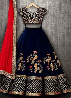 Shop Designer Lehenga Choli Replica Online with the best price. Our Fashion magazine help you get the stylish look for Family Parties and Wedding. Half Saree Designs, Choli Designs, Lehenga Designs, Indian Bridal Outfits, Indian Designer Outfits, Designer Dresses, Indian Fashion Trends, Indian Lehenga, Lehenga Choli Latest