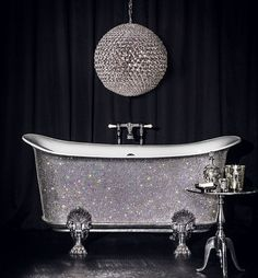 £150,000 bathtub studded with 22,000 Swarovski crystals goes on sale at Harrods