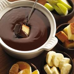 Chocolate Fondue Recipe from Lindt - Fondu is such a romantic food to share with your special someone on Valentine's Day