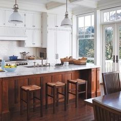 10 inspiring kitchens with wood cabinets and white countertops rh pinterest com kitchens with wood cabinets and white countertops kitchens with wood cabinets and wood floors