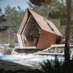 """7,927 Likes, 113 Comments - #TinyHouseMovement  (@tinyhousemovement) on Instagram: """"Nordic cabin render By: @ateliermonolit #tinyhousemovement"""""""