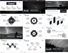 White Social Plan Slides PowerPoint templates on Behance Powerpoint Tips, Powerpoint Design Templates, Microsoft Powerpoint, Keynote Template, Presentation Design, Presentation Templates, Professional Presentation, Business Planning, Yearly